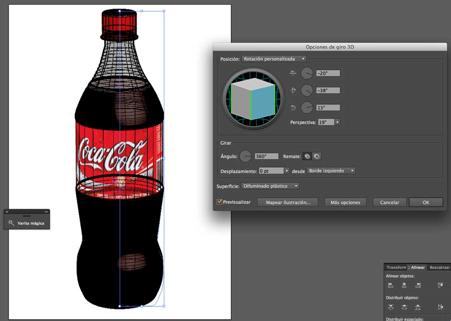 Tutorial 3D giro Illustrator